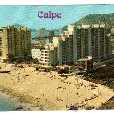 Postales: CALPE ALICANTE (VISTA PARCIAL PLAYA DE LEVANTE). Lote 8190193