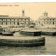 Postales: VALENCIA - GRAO. PUERTO - 93 FOTOTIPIA THOMAS-BARCELONA (NUEVA SIN USAR). Lote 26290019