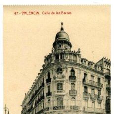 Postales: VALENCIA - CELLE DE LAS BARCAS- 97 FOTOTIPIA THOMAS-BARCELONA (NUEVA SIN USAR). Lote 25194847