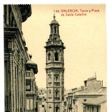 Postales: VALENCIA - TORRE Y PLAZA DE SANTA CATALINA- 98 FOTOTIPIA THOMAS-BARCELONA (NUEVA SIN USAR). Lote 23787888