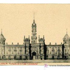 Postales: VALENCIA - CASA CONSISTORIAL- 100 FOTOTIPIA THOMAS-BARCELONA (NUEVA SIN USAR). Lote 25194849
