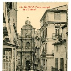 Postales: VALENCIA - PUERTA PRINCIPAL DE LA CATEDRAL- 104 FOTOTIPIA THOMAS-BARCELONA (NUEVA SIN USAR). Lote 25182733
