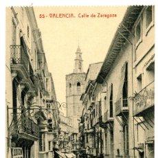 Postales: VALENCIA - CALLE DE ZARAGOZA- 105 FOTOTIPIA THOMAS-BARCELONA (NUEVA SIN USAR). Lote 23835188