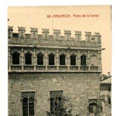 Postales: VALENCIA - PATIO DE LA LONJA- 108 FOTOTIPIA THOMAS-BARCELONA (NUEVA SIN USAR). Lote 26630267