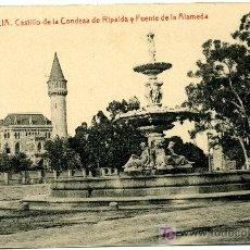 Postales: VALENCIA - CASTILLO CONDESA DE RIPALDA- 108 FOTOTIPIA THOMAS-BARCELONA (NUEVA SIN USAR). Lote 26630268