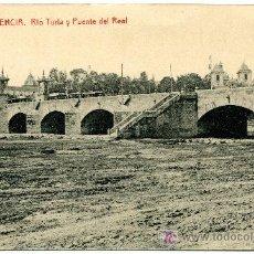 Postales: VALENCIA - RIO TURIA Y PUENTE DEL REAL- 110 FOTOTIPIA THOMAS-BARCELONA (NUEVA SIN USAR). Lote 23119915