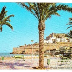 Postales: POSTAL DE PEÑISCOLA (CASTELLON) -Nº12- PASEO. PLAYA Y CASTILLO (SIN CIRCULAR). Lote 8828723