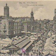 Postales: VALENCIA. VISTA GENERAL DEL MERCADO. (E B P, Nº 19). . Lote 9100311