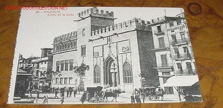 ANTIGUA POSTAL DE VALENCIA - LONJA DE LA SEDA - ED. THOMAS- VALENCIA (Postales - España - Comunidad Valenciana Antigua (hasta 1939))