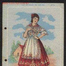 Cartes Postales: LAS MUJERES DE ESPAÑA. ALICANTE. CARAMELOS FISAS. IMPRENTA MARTI, MARI Y CIA. BCN. PRINCIPIO DEL XX. Lote 25275573