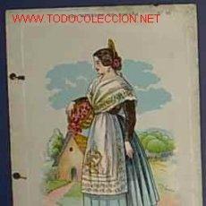 Postales: LAS MUJERES DE ESPAÑA. VALENCIA. CARAMELOS FISAS. IMPRENTA MARTI, MARI Y CIA. BCN. PRINCIPIO DEL XX. Lote 13375889