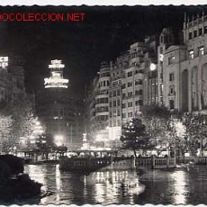 Cartoline: VALENCIA. ASPECTO NOCTURNO DE LA PLAZA DEL CAUDILLO. Lote 2398879