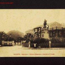 Postales: POSTAL D' ALACANT: MONUMENT A ELEUTERI MAISONNAVE I AVDA. DEL DR.GADES (BASAR ARCA DE NOE NUM.51). Lote 2686857