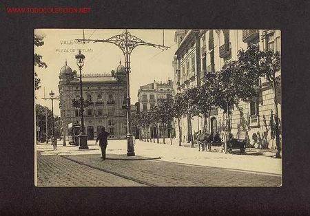 POSTAL DE VALENCIA: PLAÇA DE TETUAN (HAUSER Y MENET) (ANIMADA) (Postales - España - Comunidad Valenciana Antigua (hasta 1939))