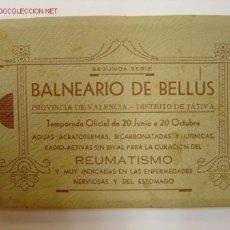 Postales: BALNEARIO DE BELLUS (VALENCIA) - INDUSTRIAL FOTOGRAFICA - 10 POSTALES. Lote 26895681