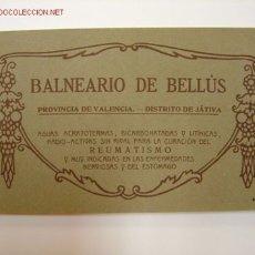 Postales: BALNEARIO DE BELLUS (VALENCIA) - FOTOTIPIA THOMAS - 12 POSTALES . Lote 26948592