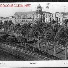 Postales: ALICANTE PASEOS, . Lote 19444549