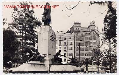 VALENCIA. PLAZA DE CANOVAS DEL CASTILLO. CLICHE J. A. VERA. Nº 575. ESCRITA (Postales - España - Comunidad Valenciana Moderna (desde 1940))