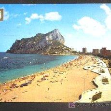 Postales: CALPE. VISTA PARCIAL DE LA PLAYA DE LEVANTE // ALICANTE.. Lote 15374535