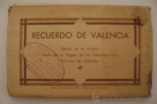VALENCIA.RECUERDO,DESFILE DE LA VICTORIA.FIESTA DE LA VIRGEN DE LOS DESAMPARADOS.12075 15 POSTALES (Postales - España - Comunidad Valenciana Antigua (hasta 1939))