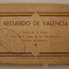 Postales: VALENCIA.RECUERDO,DESFILE DE LA VICTORIA.FIESTA DE LA VIRGEN DE LOS DESAMPARADOS.12075 15 POSTALES. Lote 24549654
