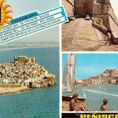 Postales: POSTAL A COLOR Nº 25 PEÑISCOLA CASTELLON VISTA AEREA - BAJADA FELIPE II - PLAYA ED ESCUDO ORO CIRCUL. Lote 10400865