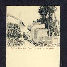 Cartoline: POSTAL D' ALACANT: COLONIA DE SANTA EULALIA: CARRER DE SANTA RITA. Lote 10542842