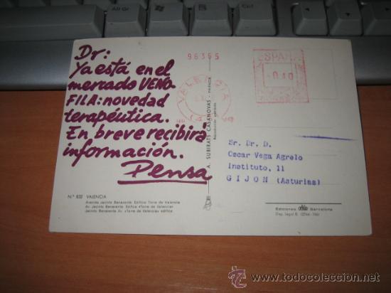 Postales: VALENCIA AVENIDA JACINTO BENAVENTE - Foto 2 - 10565650