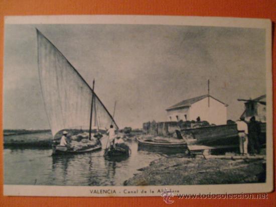 CANAL DE LA ALBUFERA. JDP (Postales - España - Comunidad Valenciana Antigua (hasta 1939))