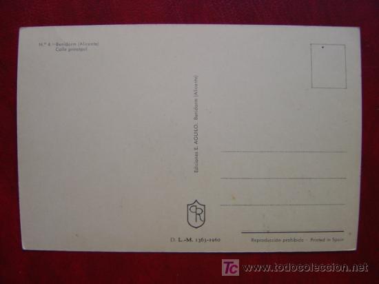 Postales: BENIDORM (ALICANTE) - Foto 2 - 10756166