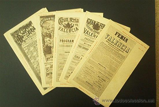 COLECCION COMPLETA : 30 POSTALES DE CARTELES DE LA FERIA DE VALENCIA 1871 A 1903. NUMERADAS. AÑO1903 (Postales - España - Comunidad Valenciana Antigua (hasta 1939))