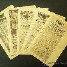 Postales: COLECCION COMPLETA : 30 POSTALES DE CARTELES DE LA FERIA DE VALENCIA 1871 A 1903. NUMERADAS. AÑO1903. Lote 40788811