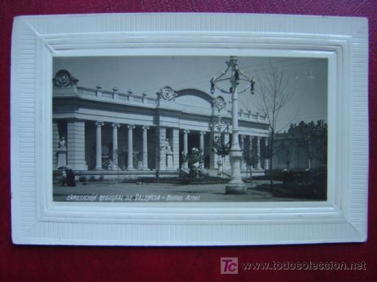 VALENCIA-EXPOSICION REGIONAL VALENCIANA 1909 - BELLAS ARTES- POSTAL FOTOGRAFICA, MARGEN EN RELIEVE (Postales - España - Comunidad Valenciana Antigua (hasta 1939))