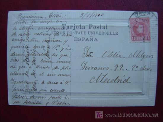 Postales: VALENCIA-EXPOSICION REGIONAL VALENCIANA 1909 - BELLAS ARTES- POSTAL FOTOGRAFICA, MARGEN EN RELIEVE - Foto 2 - 10827112