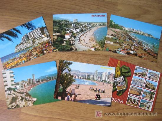 7 POSTALES DE BENIDORM DE LOS 70 (Postales - España - Comunidad Valenciana Moderna (desde 1940))