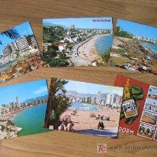 Postales: 7 POSTALES DE BENIDORM DE LOS 70. Lote 20100891