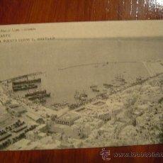 Postales: ALICANTE - E L PUERTO DESDE EL CASTILLO. Lote 10924779