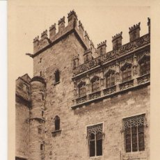 Postales: POSTAL DE VALENCIA . LONJA SIGLO XV . JARDIN . SIN CIRCULAR . . Lote 11041237