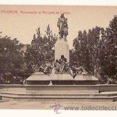 Postales: ANTIGUA POSTAL 62 VALENCIA MONUMENTO AL MARQUES DE CAMPO 112 FOTOTIPIA THOMAS. Lote 11312236