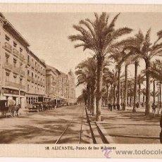 Postales: ANTIGUA POSTAL 18 ALICANTE PASEO DE LOS MARTIRES FOTO L ROISIN. Lote 11349586