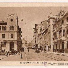 Postales: ANTIGUA POSTAL 16 ALICANTE AVENIDA DE ZORRILLA FOTO L ROISIN . Lote 11482013