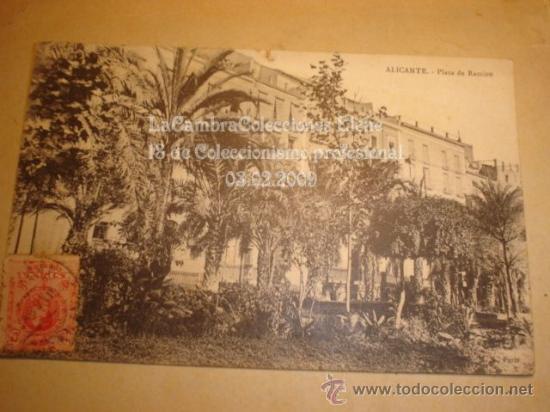 RARA Y ANTIGUA POSTAL DE ALICANTE , HACIA 1900 (Postales - España - Comunidad Valenciana Antigua (hasta 1939))