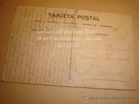 Postales: RARA Y ANTIGUA POSTAL DE ALICANTE , HACIA 1900 - Foto 2 - 11838707