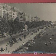 Postales: ALICANTE - LA EXPLANADA Y EL PUERTO - AÑO 1958. Lote 26321838