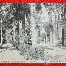 Cartes Postales: VALENCIA - PASEO DE LAS PALMERAS. Lote 12605075
