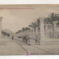 Postales: ALICANTE. FERROCARRIL PARA LAS OBRAS DEL PUERTO. (CASTAÑEIRA Y ALVAREZ). . Lote 13062463