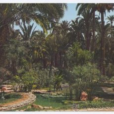 Postales: POSTAL ELCHE - HUERTO DEL CURA - ESTANQUE TROPICAL - GARCIA GARRABELLA. Lote 13074662