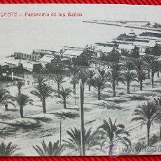 Postales: ALICANTE - PANORAMA DE LOS BAÑOS. Lote 194876881