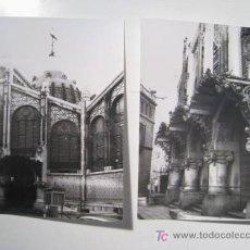 Postales: LOTE 2 FOTOGRAFIAS ANTIGUAS VALENCIA: MERCADO 1970. Lote 13613214