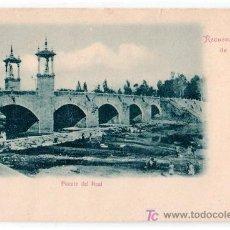 Postales: TARJETA POSTAL DE VALENCIA. RECUERDOS, PUENTE DEL REAL. LIBRERIA RAMON ORTEGA. Lote 17425676